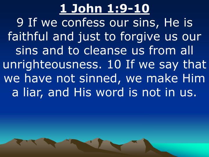1 John 1:9-10