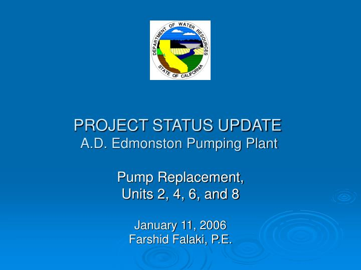 project status update presentation