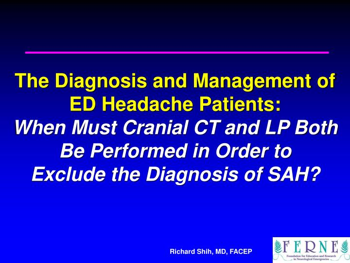 The Diagnosis and Management of