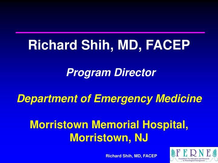 Richard Shih, MD, FACEP