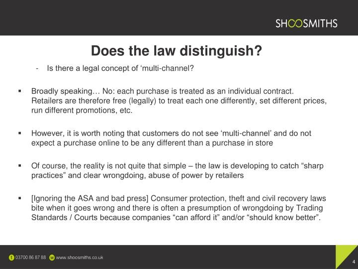 Does the law distinguish?