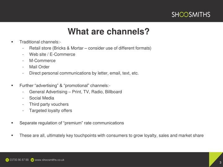 What are channels
