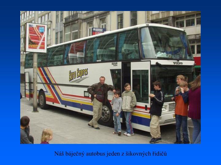 Náš báječný autobus jeden z šikovných řidičů