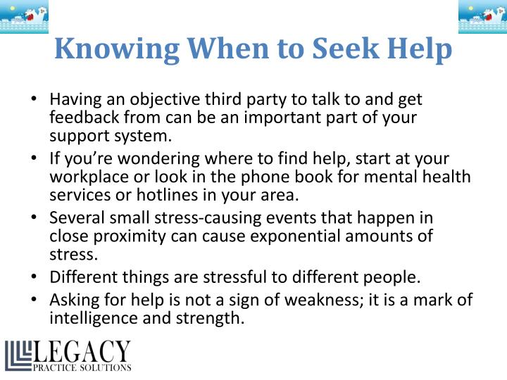 Knowing When to Seek Help