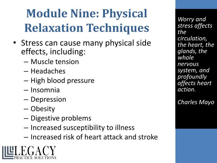 Module Nine: Physical Relaxation Techniques