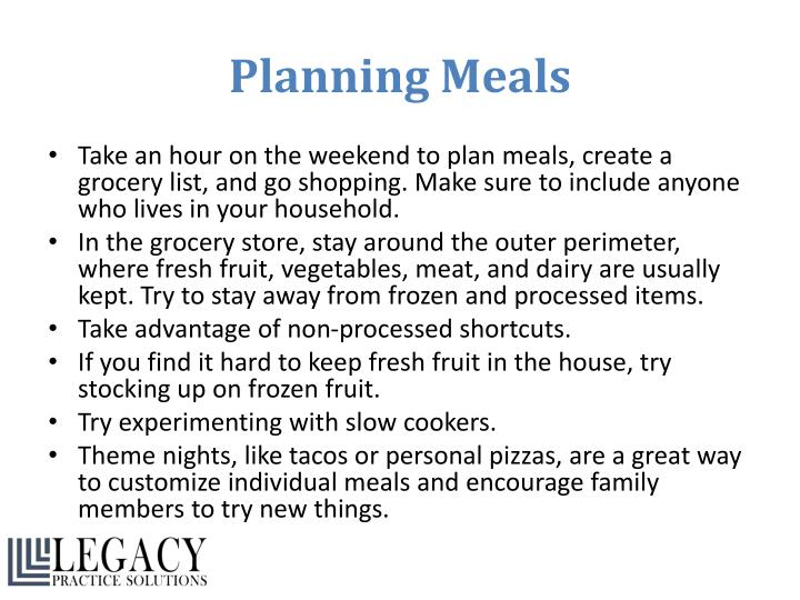 Planning Meals