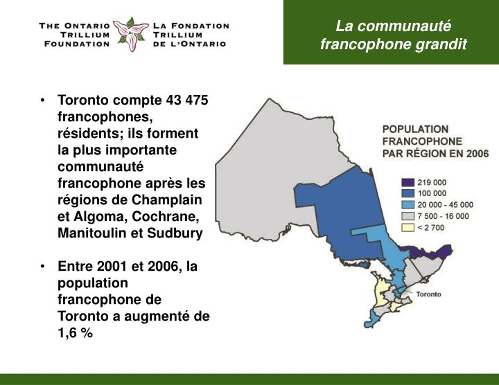 La communauté francophone grandit