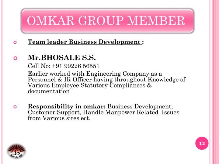Team leader Business Development
