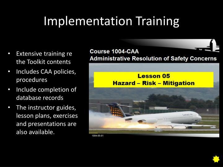 Implementation Training