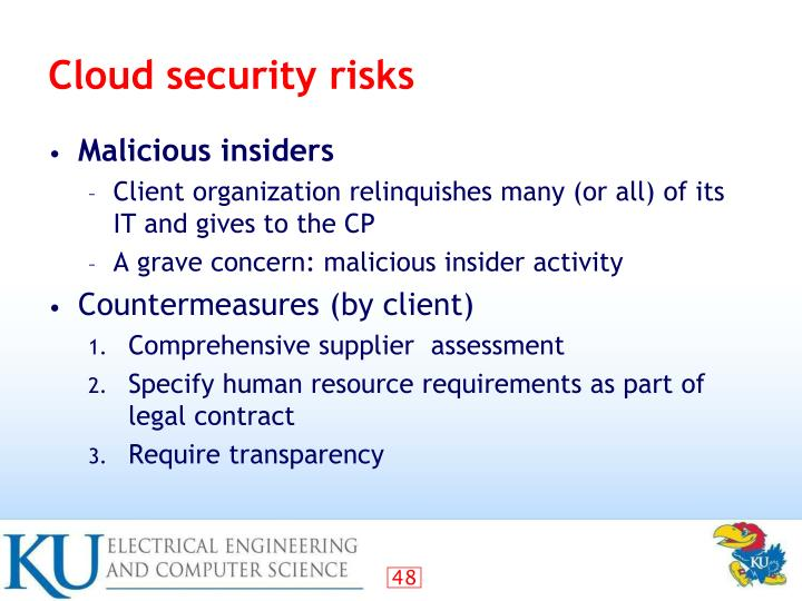 Cloud security risks