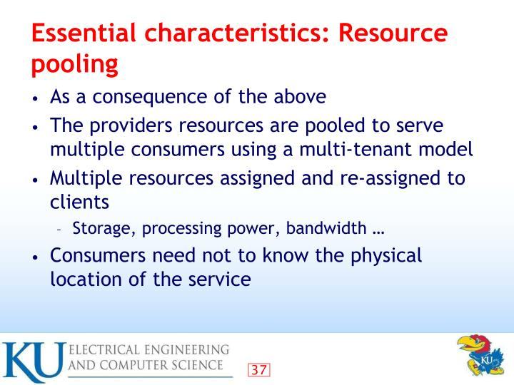 Essential characteristics: Resource pooling