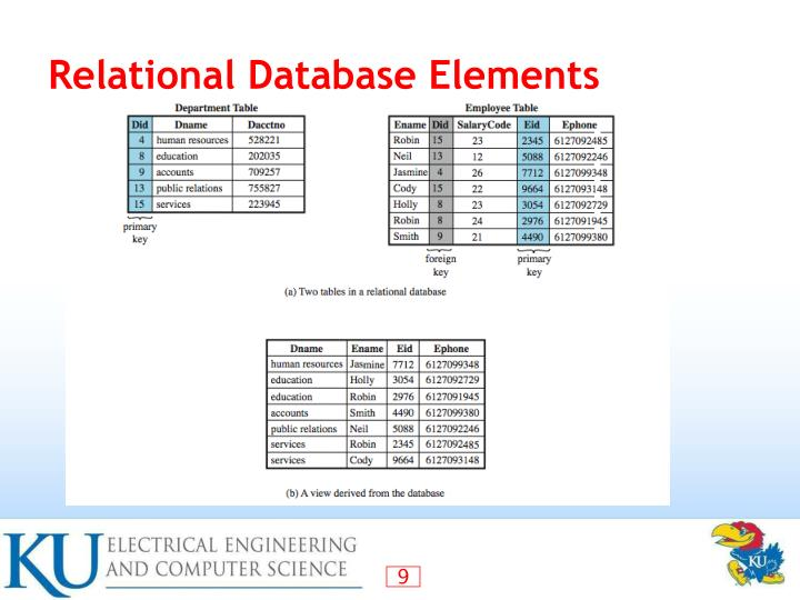 Relational Database Elements