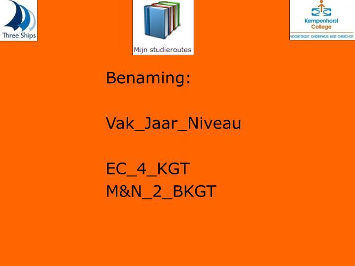 Benaming:
