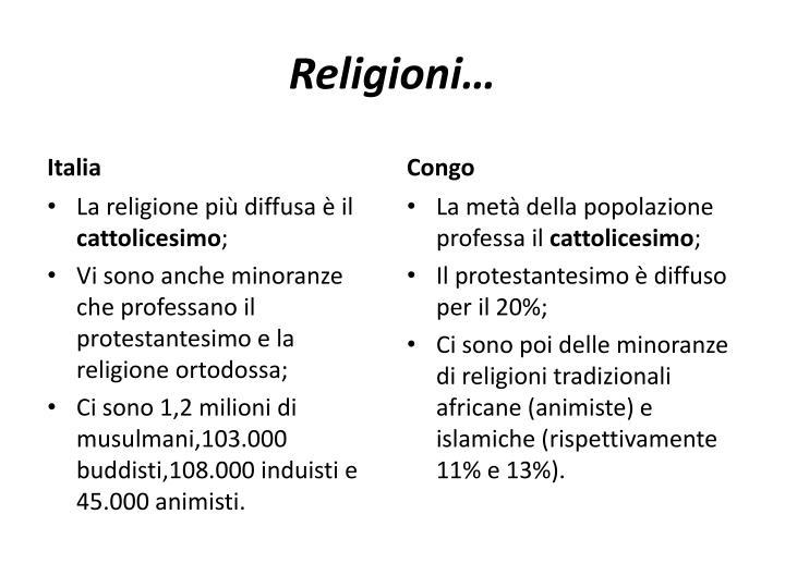Religioni…