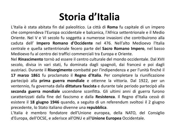 Storia d italia