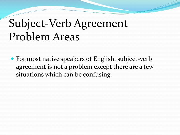 Ppt Subject Verb Agreement Powerpoint Presentation Id5293310