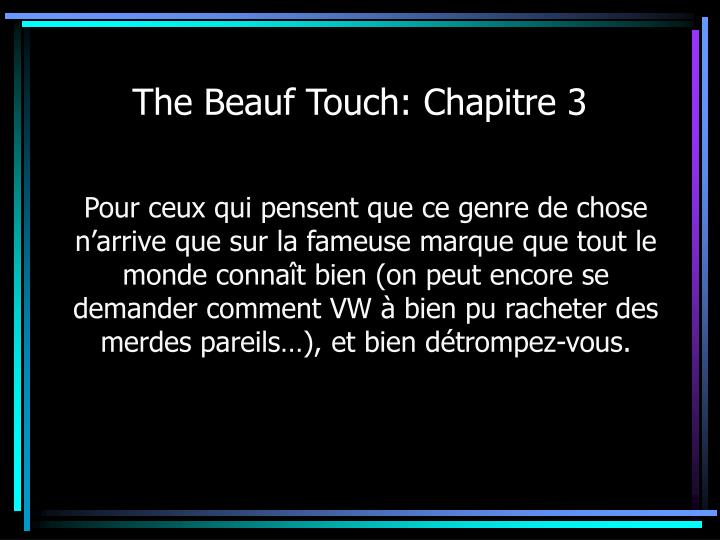 The Beauf Touch: Chapitre 3