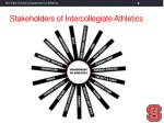 stakeholders of intercollegiate athletics