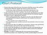 court protocol