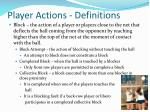 player actions definitions2