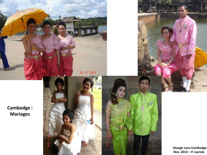 Cambodge : Mariages