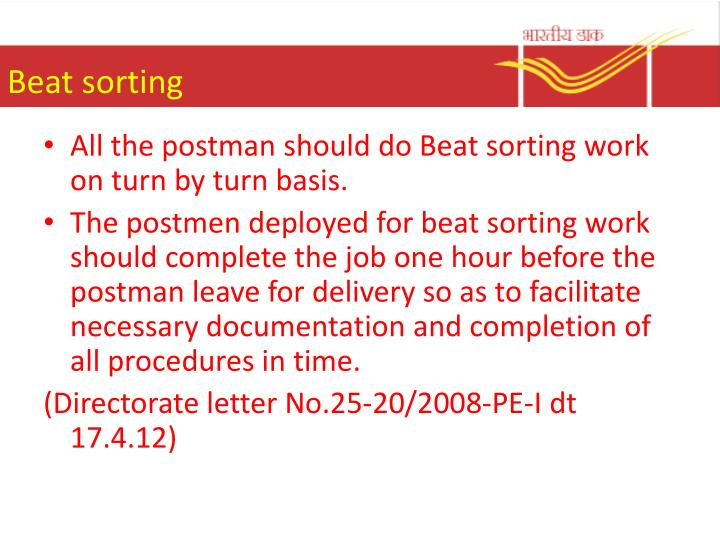 Beat sorting