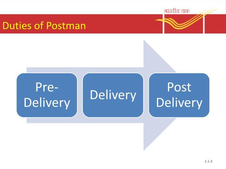 Duties of postman1