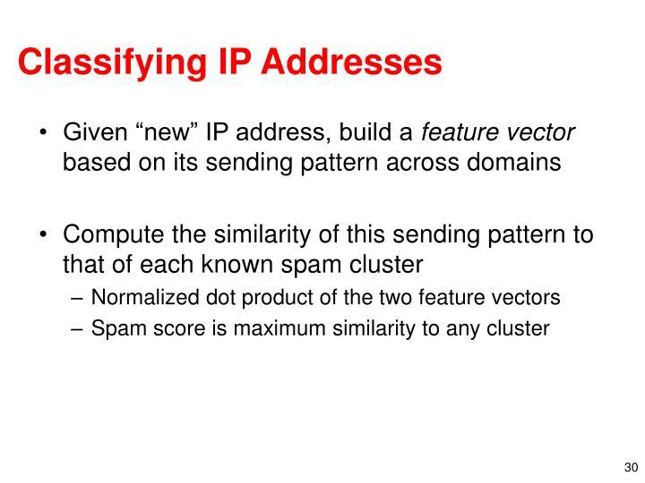 Classifying IP Addresses