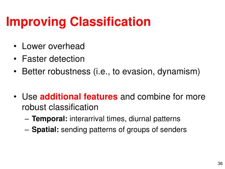 Improving Classification
