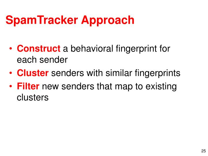 SpamTracker Approach