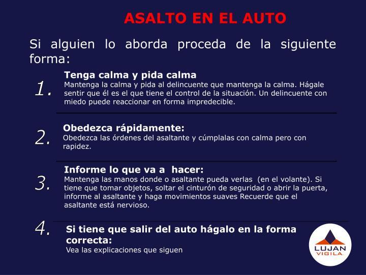 ASALTO EN EL AUTO