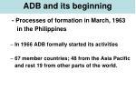 adb and its beginning