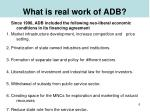what is real work of adb