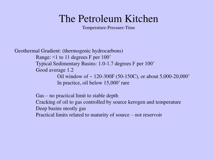 The Petroleum Kitchen