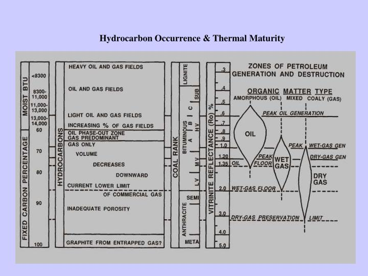 Hydrocarbon Occurrence & Thermal Maturity