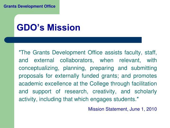 Gdo s mission