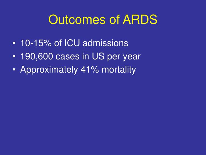 Outcomes of ARDS