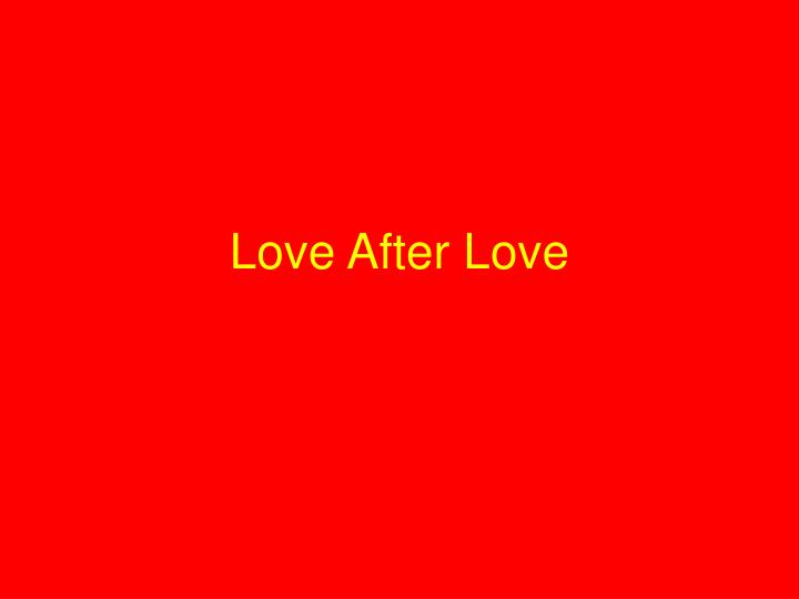 love after love n.