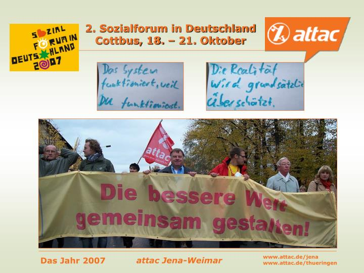 2. Sozialforum in Deutschland