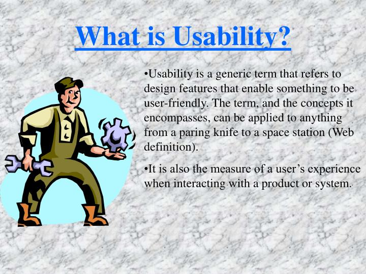 What is usability