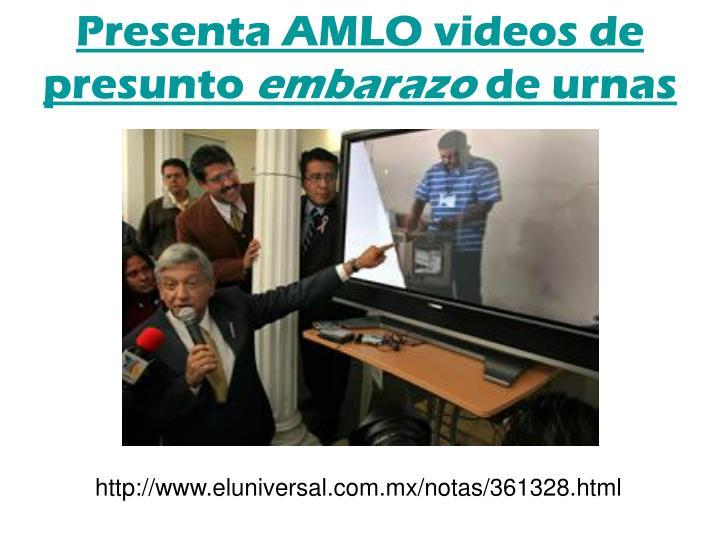 Presenta AMLO