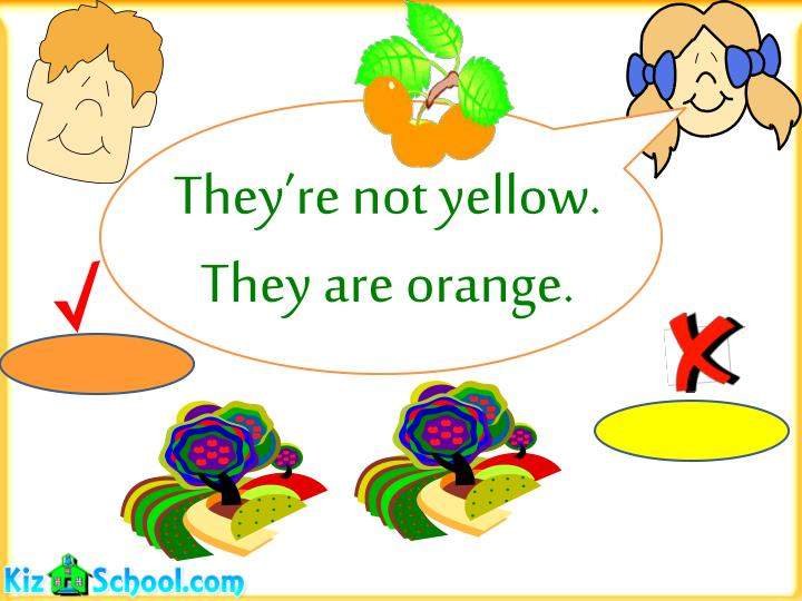 They're not yellow.