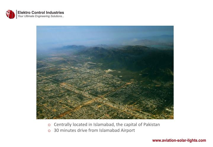 Centrally located in Islamabad, the capital of Pakistan
