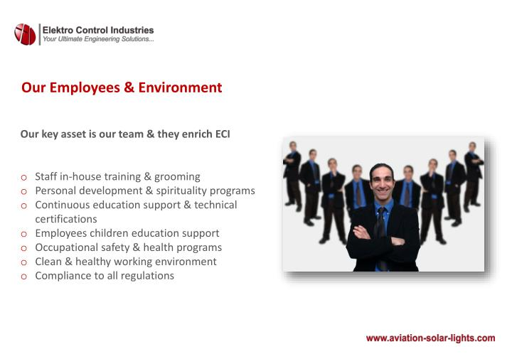 Our Employees & Environment