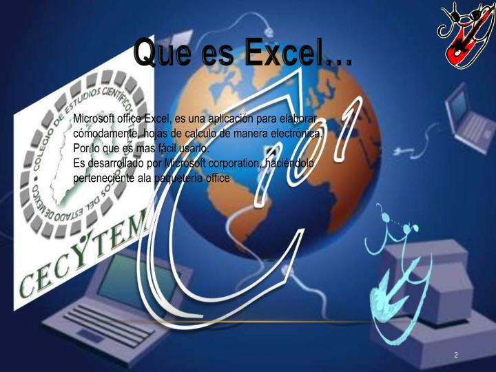 Que es Excel…