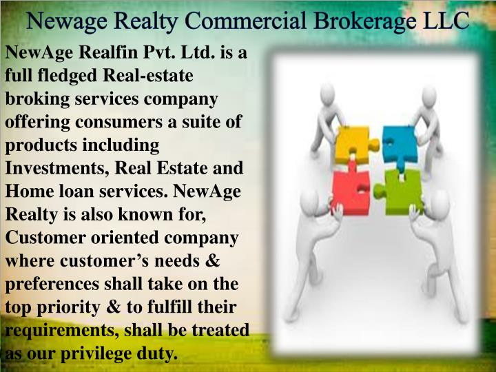 Newage Realty Commercial Brokerage LLC
