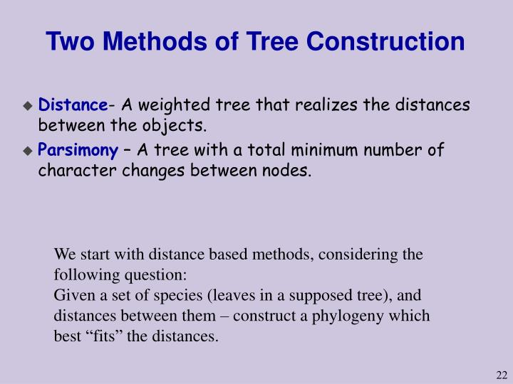 Two Methods of Tree Construction