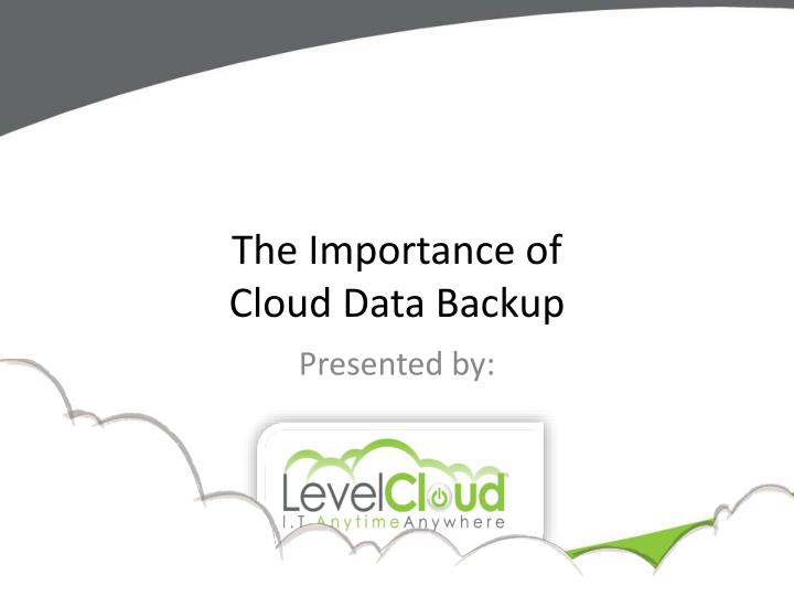 the importance of cloud data backup n.
