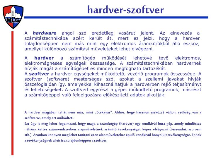 Hardver-szoftver