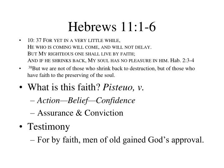 hebrews 11 1 6 n.